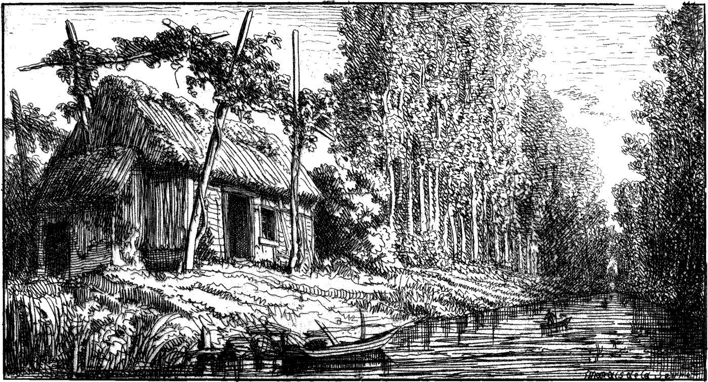 marais hutte s vre niortaise gravure octave de rochebrune la ronde. Black Bedroom Furniture Sets. Home Design Ideas